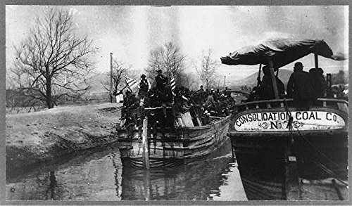 Coxey's Army on the canal--Second barge belongs to the Consolidation Coal Company - From the Ray Stannard Baker Collection at the Library of Congress.
